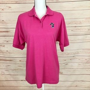 Antigua Pink Minnie Mouse Golf Polo Shirt